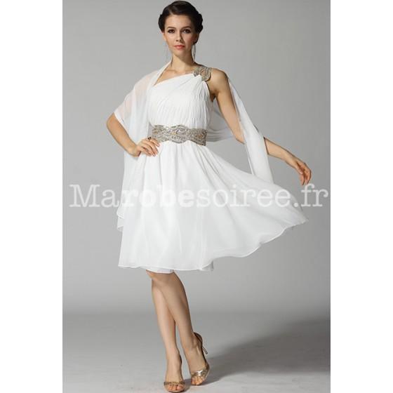 Robe de cocktail blanche pour mariage
