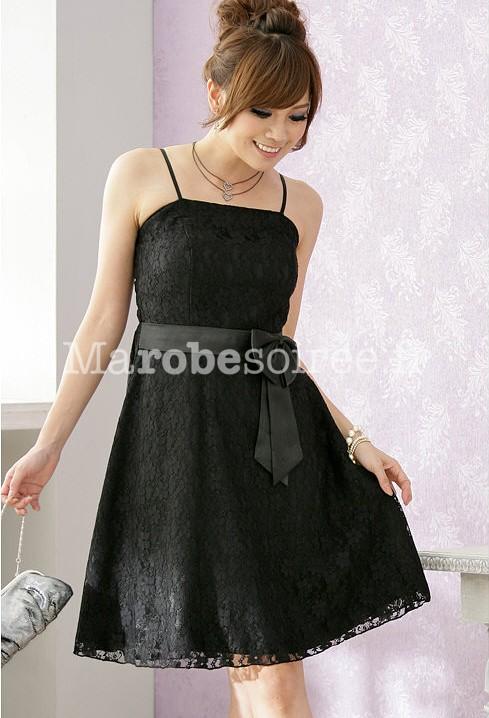 Robe de soiree courte noire dentelle