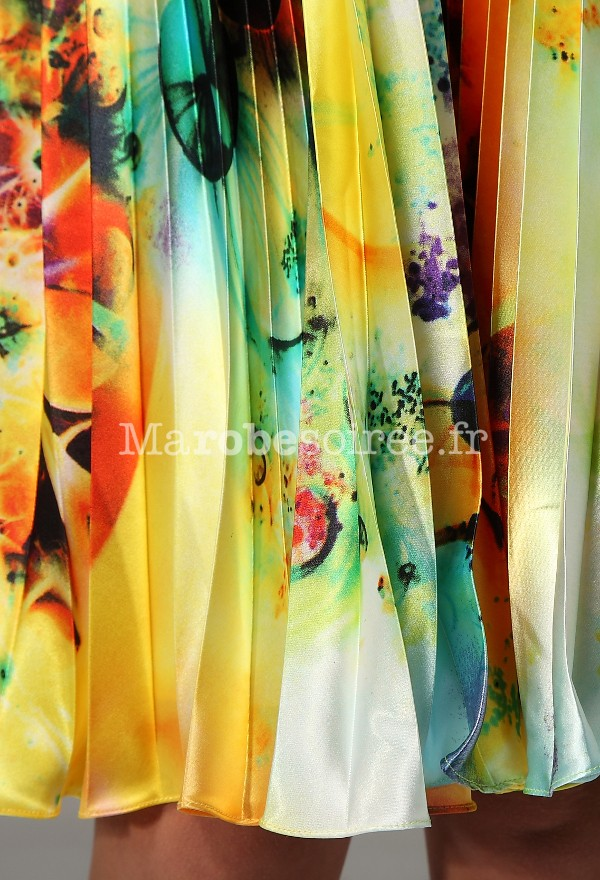 Robe de soiree en tissu imprime