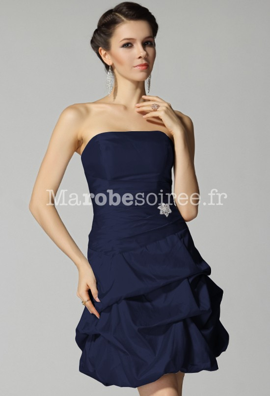 Robe de soiree bleu bustier