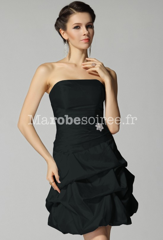 Robe de cocktail noir courte