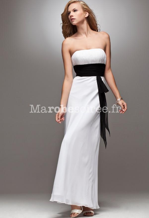 robe de c r monie longue coupe droite simple en mousseline. Black Bedroom Furniture Sets. Home Design Ideas