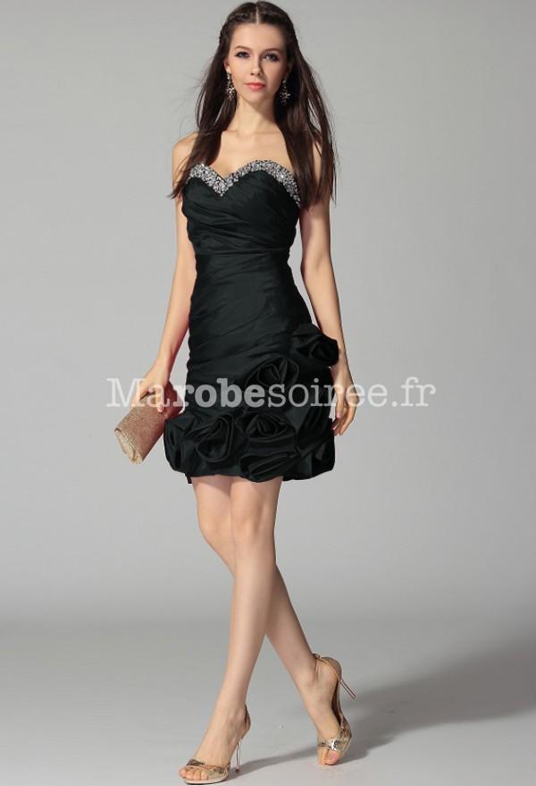 Petite robe noir florale