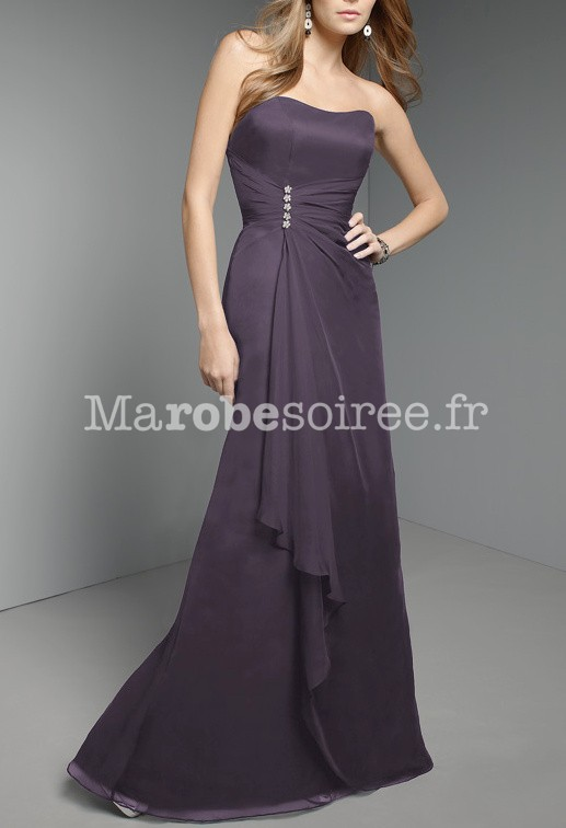robe de soir e gabrielle en mousseline bustier longue pour mariage. Black Bedroom Furniture Sets. Home Design Ideas