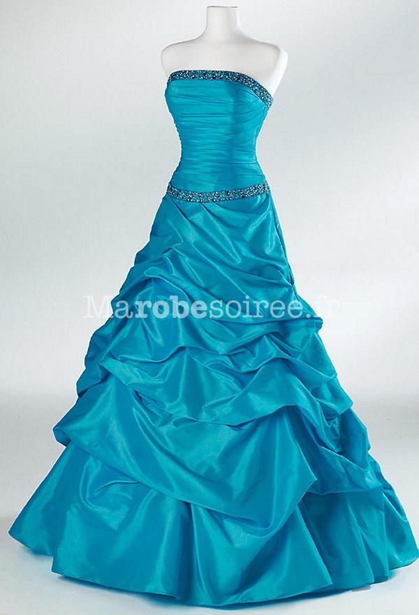 Robe de soiree couleur chocolat turquoise