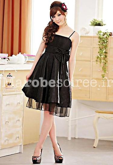 robe de soiree plissé ceinturé par un noeud