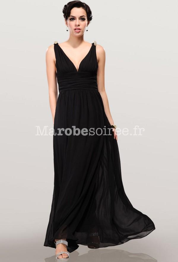 Robe cocktail noire longue