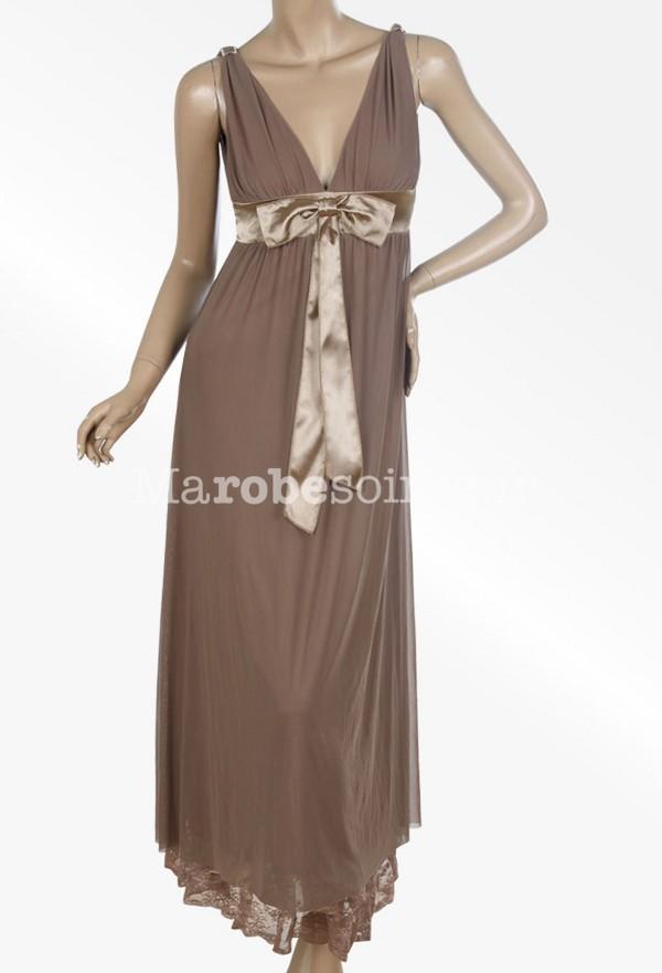 Robe soiree marron