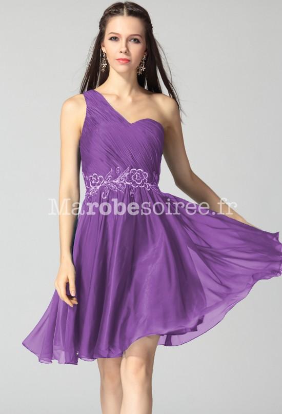 0e3632dcdfc elisabeth - Robe de soirée courte broderie réf 9625  bleu canard  violet ...