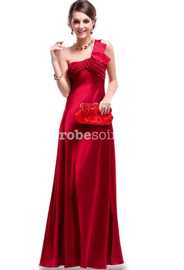 Robe de soiree rouge satin