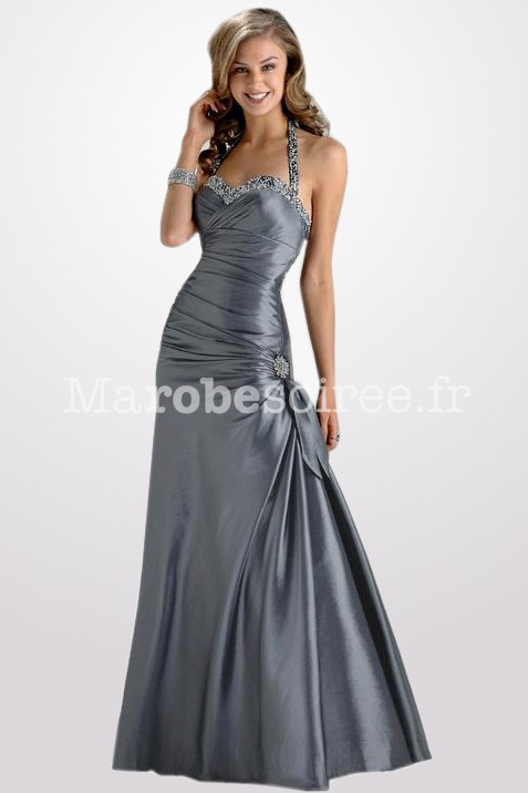 Robe couleur argentee