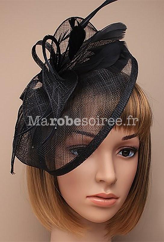 55676bd2776 ... cérémonie - Beige  Bibi petit chapeau pour femme - Noir ...