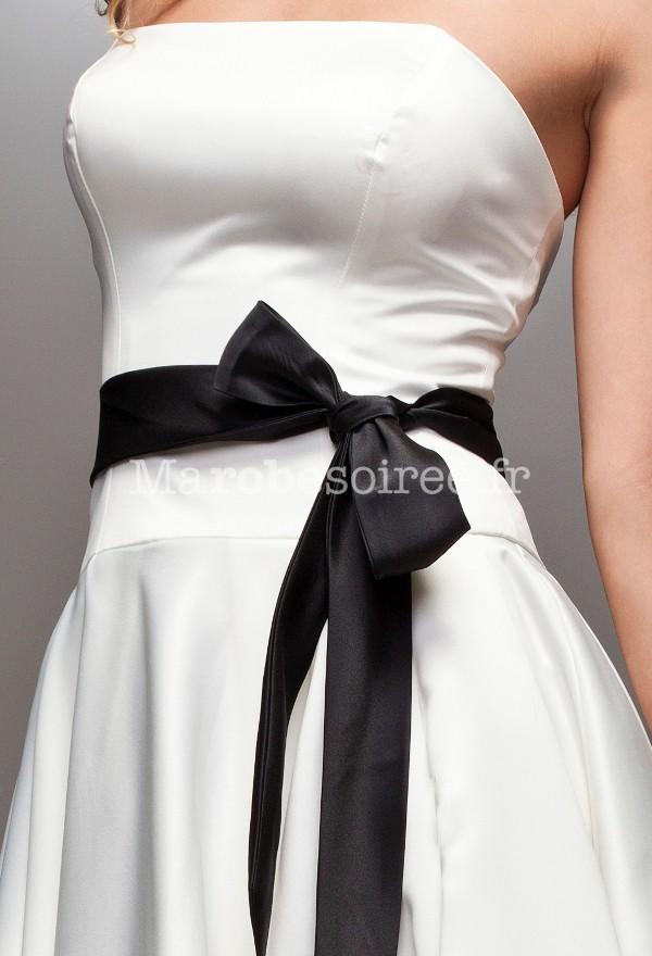 f44429173bf68 ... Ceinture noir en ruban satin pour femme ...