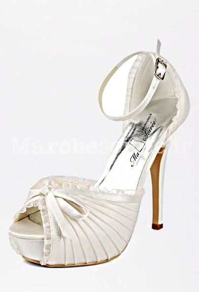 b268af99711317 Blanc; Escarpin mariage mariée ivoire ...