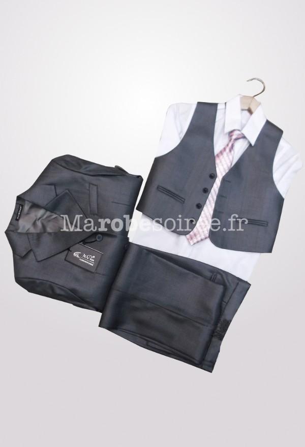costume enfant gris clair et fonc chemise gilet. Black Bedroom Furniture Sets. Home Design Ideas