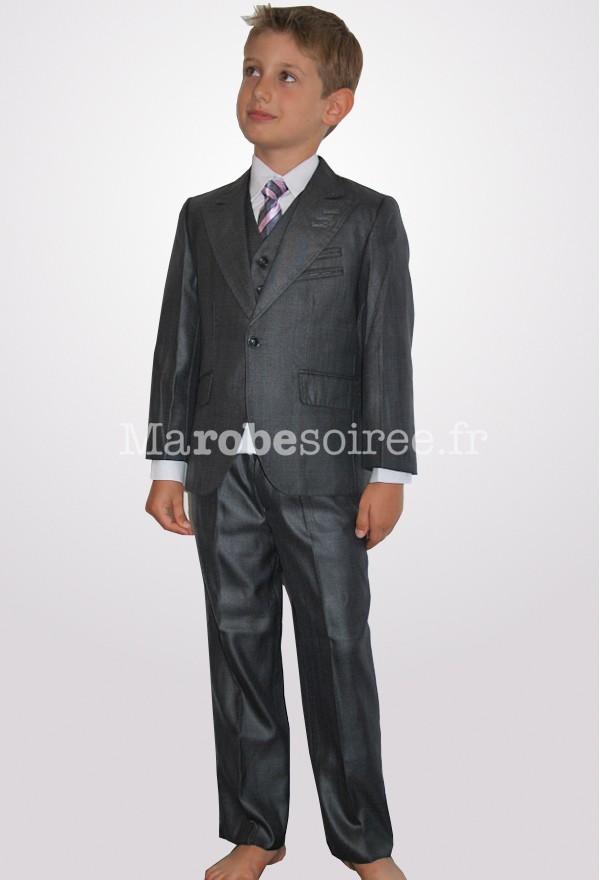 costume enfant tenue gar on 5 pi ces gris anthracite. Black Bedroom Furniture Sets. Home Design Ideas