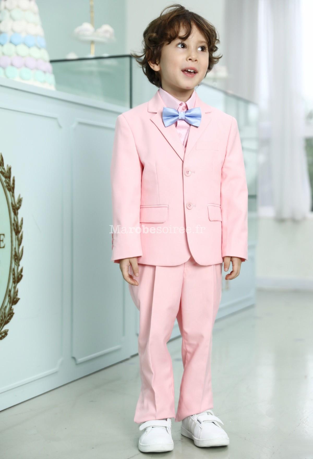 Costume enfant garçon rose pastel  Costume garçon rose pastel pour mariage  Costume  garçon rose pastel ... ace94d83b06