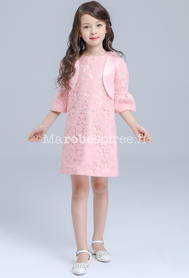 2ba66700818 ... dentelle simple  Robe et boléro pour jeune fille ...