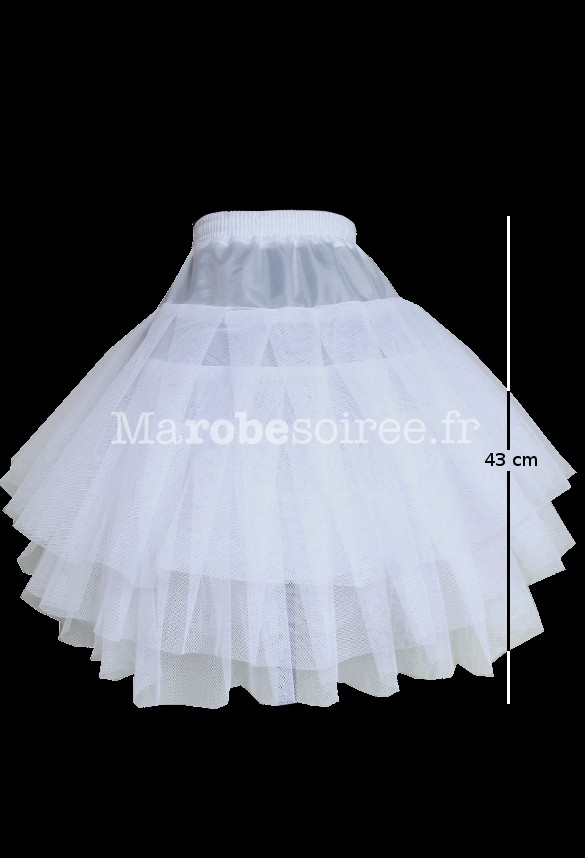 Jupon pour robe de mariee courte
