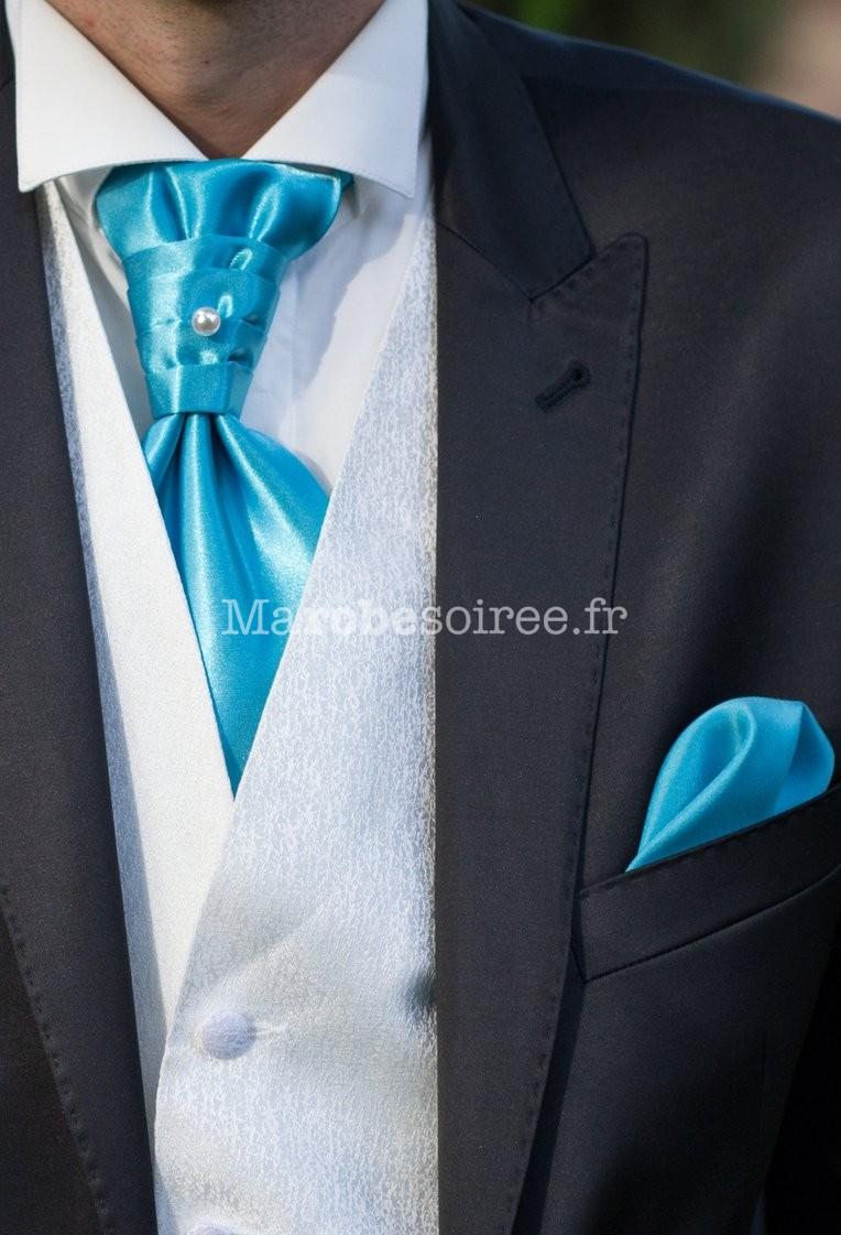 Lavallière + pochette assortie (en option) pour hommes Réf L20