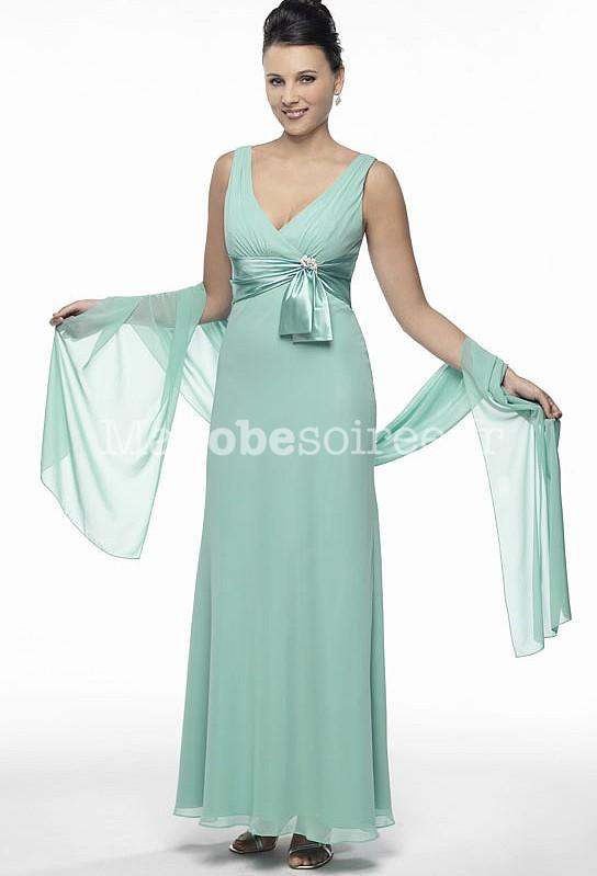robe de soir e longue simple l g re sans manches avec l 39 tole ch le. Black Bedroom Furniture Sets. Home Design Ideas