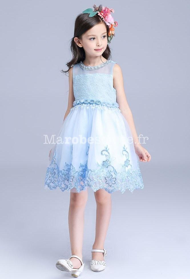 Jolie robe bleu pastel pour fille au mariage for Robe couleur pastel pour mariage