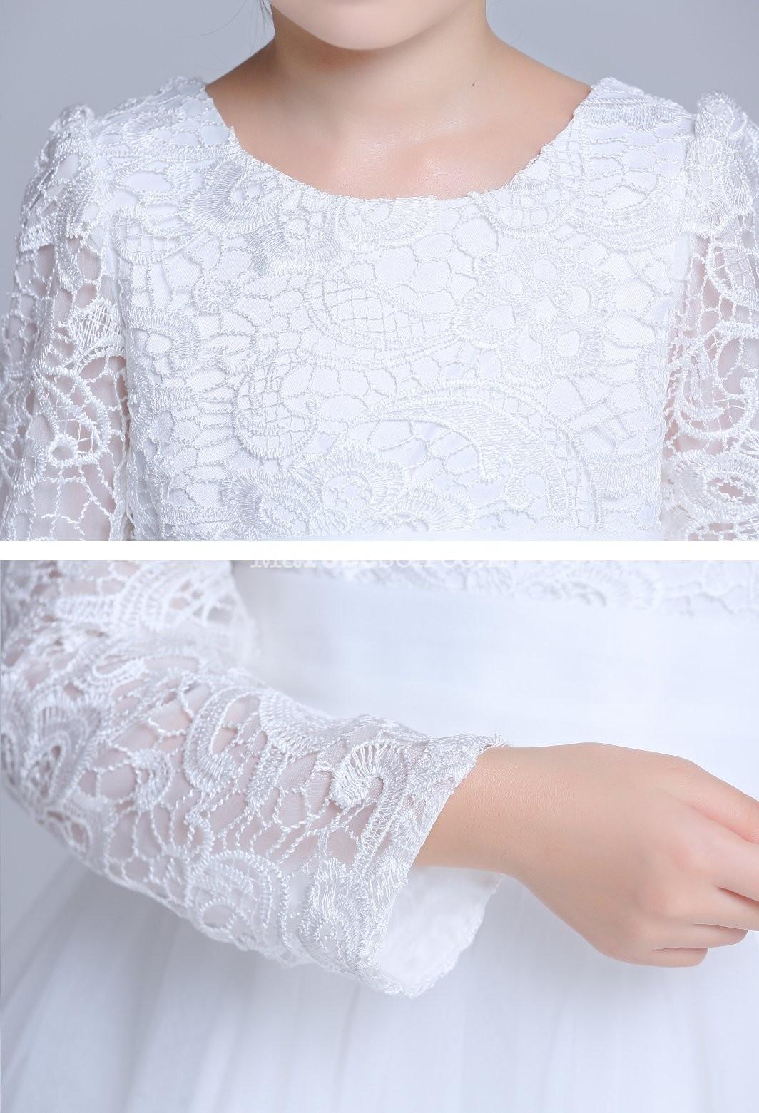 Robe blanche petite fille bapteme