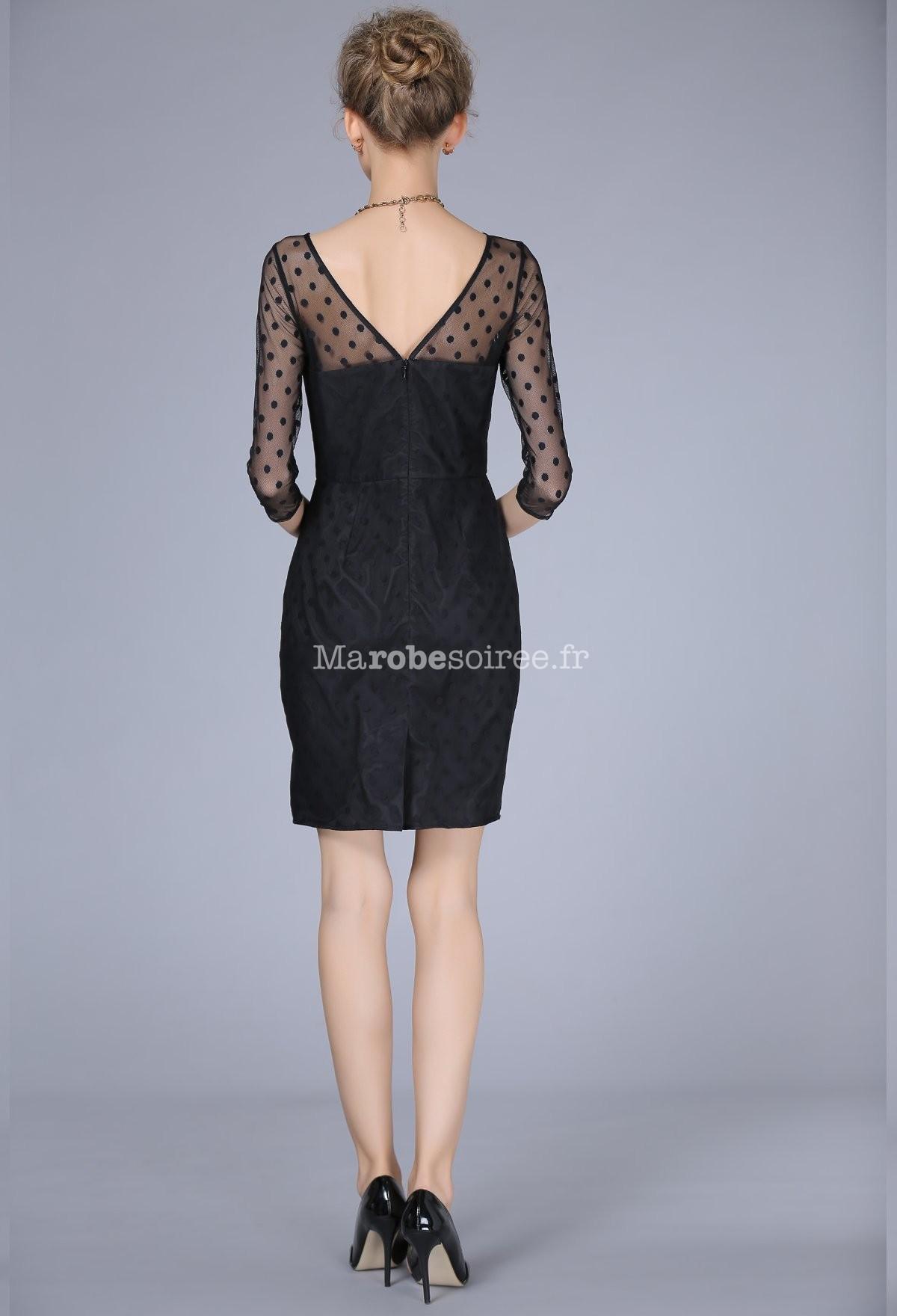 robe cocktail noire bustier poids noirs. Black Bedroom Furniture Sets. Home Design Ideas