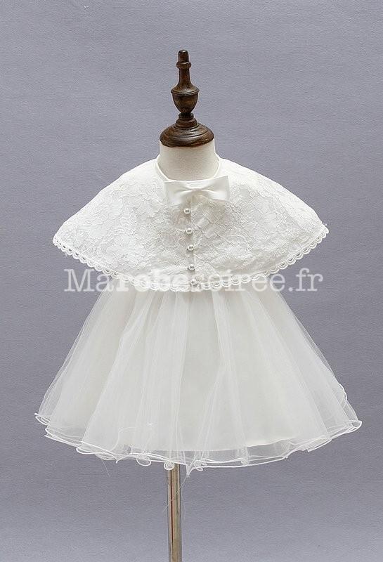 robe pour enfant avec cape pour mariage bapteme. Black Bedroom Furniture Sets. Home Design Ideas