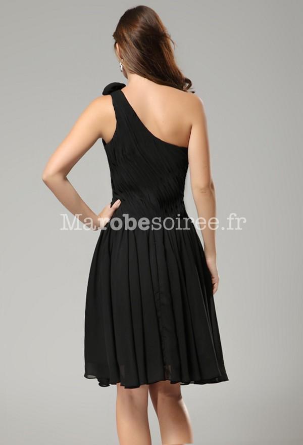 robe de soir e orlane en mousselin une bretelle d cor e d 39 une fleur. Black Bedroom Furniture Sets. Home Design Ideas