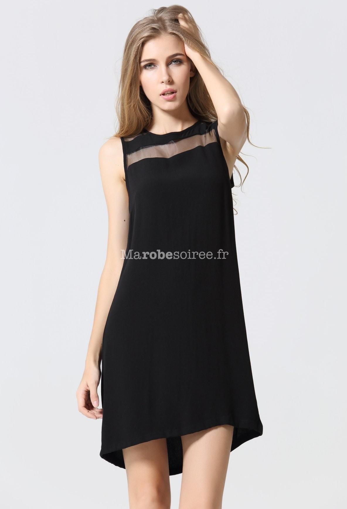 petite robe noire courte asym trique voile. Black Bedroom Furniture Sets. Home Design Ideas
