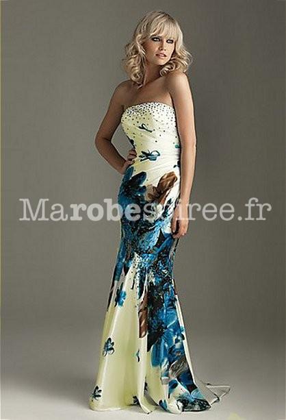 robe de soir e blanche longue anthea blanche tissus imprim fleurs. Black Bedroom Furniture Sets. Home Design Ideas
