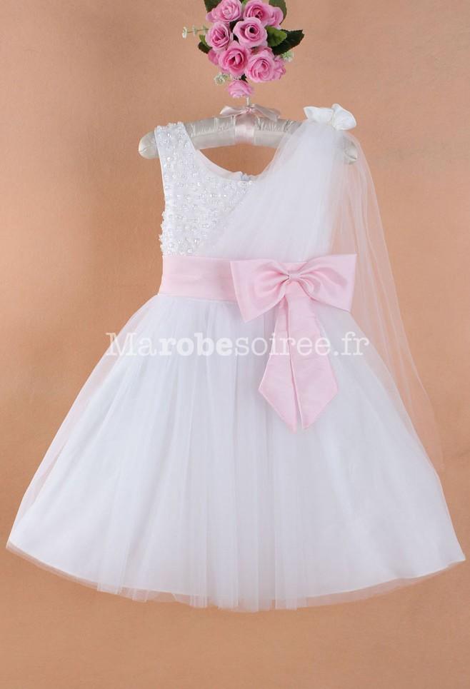 robe de cort ge enfant blanc bustier raffin de perles. Black Bedroom Furniture Sets. Home Design Ideas