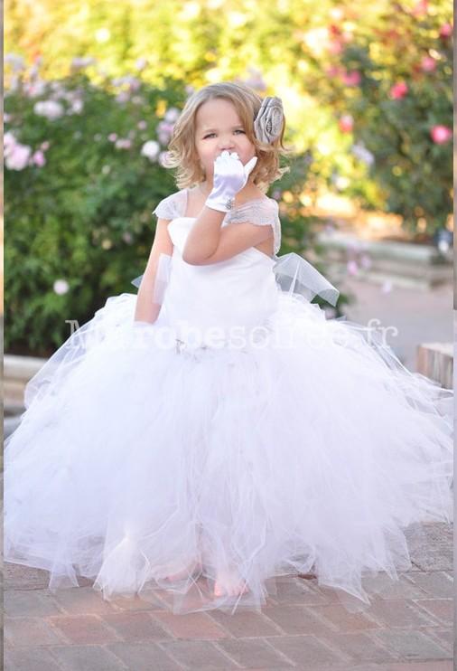 robe blanche tulle bebe la mode des robes de france. Black Bedroom Furniture Sets. Home Design Ideas