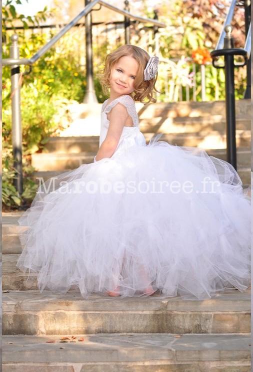 robe de cortge enfant d1005 - Robe Cortege Fille Mariage