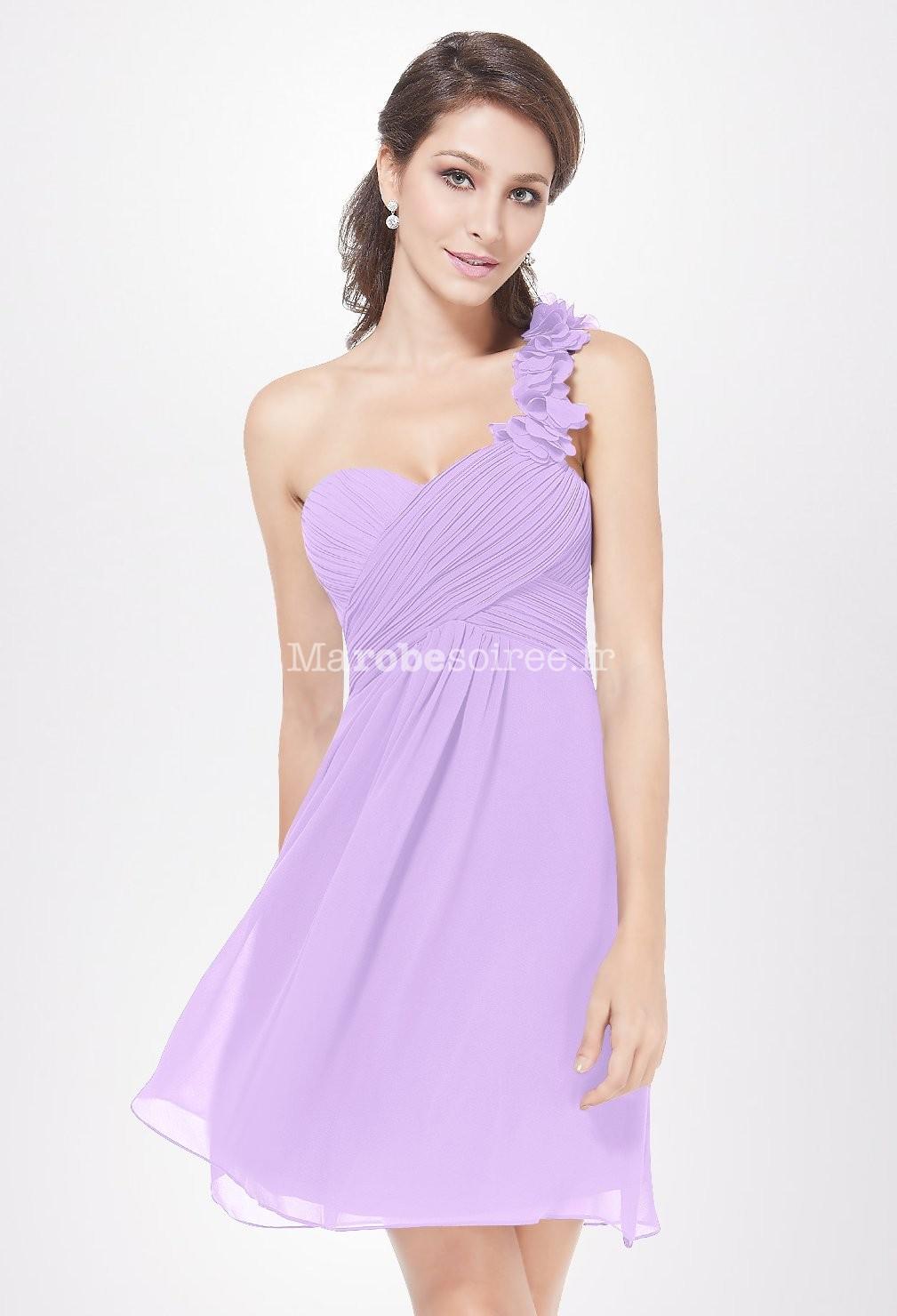 Robe de cocktail couleur lilas