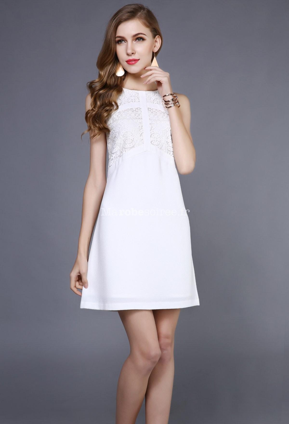 robe dentelle blanche chic la mode des robes de france. Black Bedroom Furniture Sets. Home Design Ideas