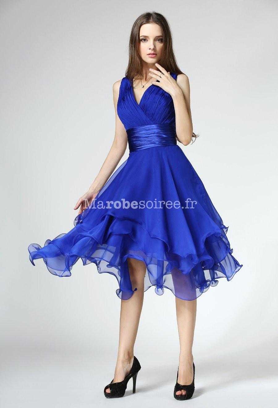 Robe bleu ciel courte fashion designs for Robe bleue pour mariage