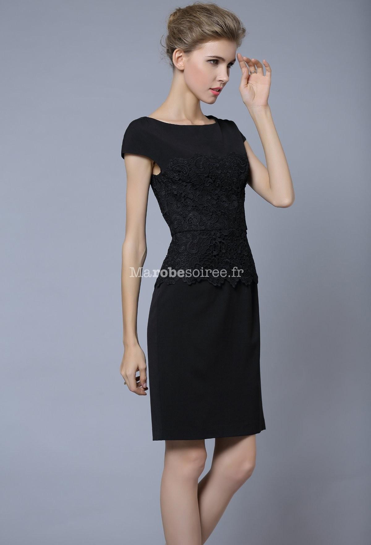 robe de cocktail courte taille marqu e dentelle. Black Bedroom Furniture Sets. Home Design Ideas