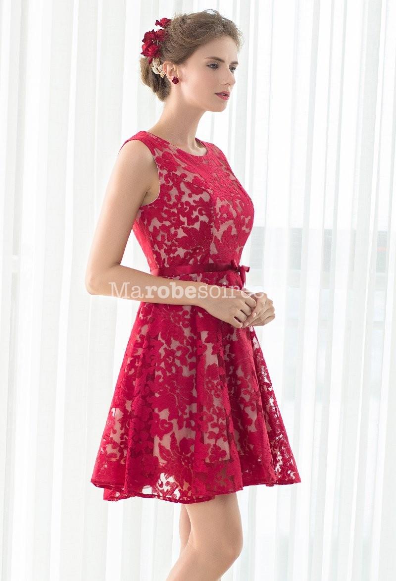 robe de soiree rouge dentelle. Black Bedroom Furniture Sets. Home Design Ideas