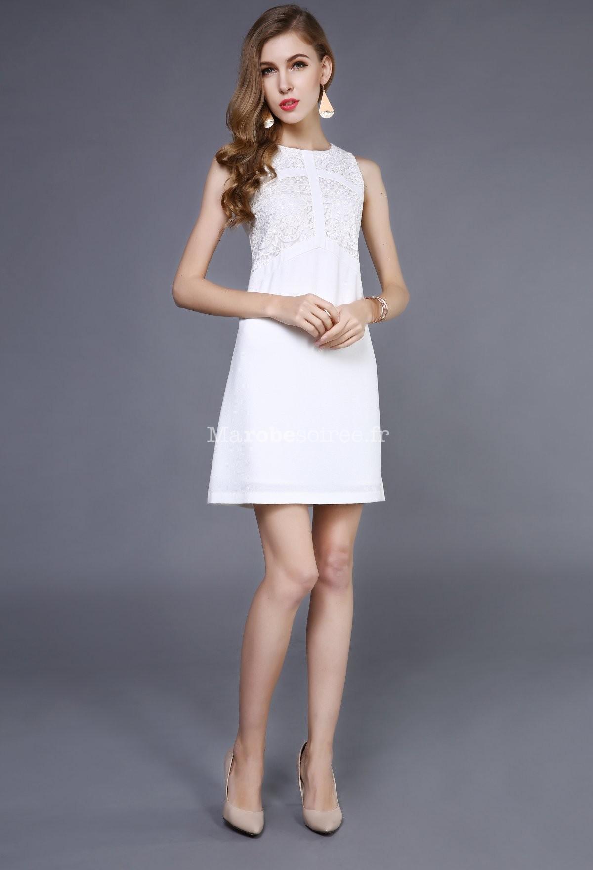 pas mal 69be6 aa3f4 petite robe de cocktail blanche tout en sobriété