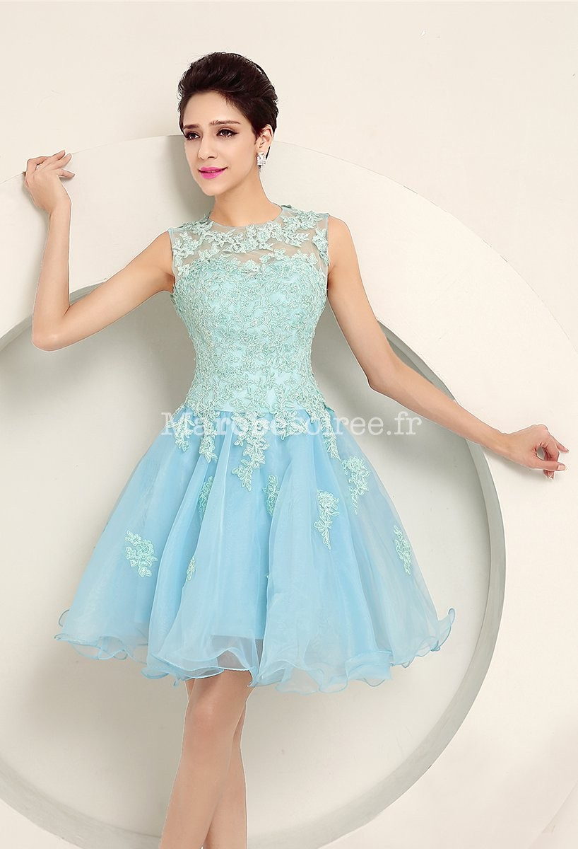 Robe bleu pastel mariage