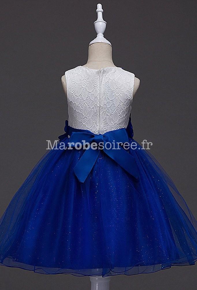 Robe de mariee blanc et bleu roi