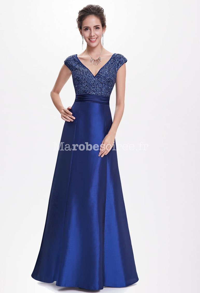 Robe bal bleu