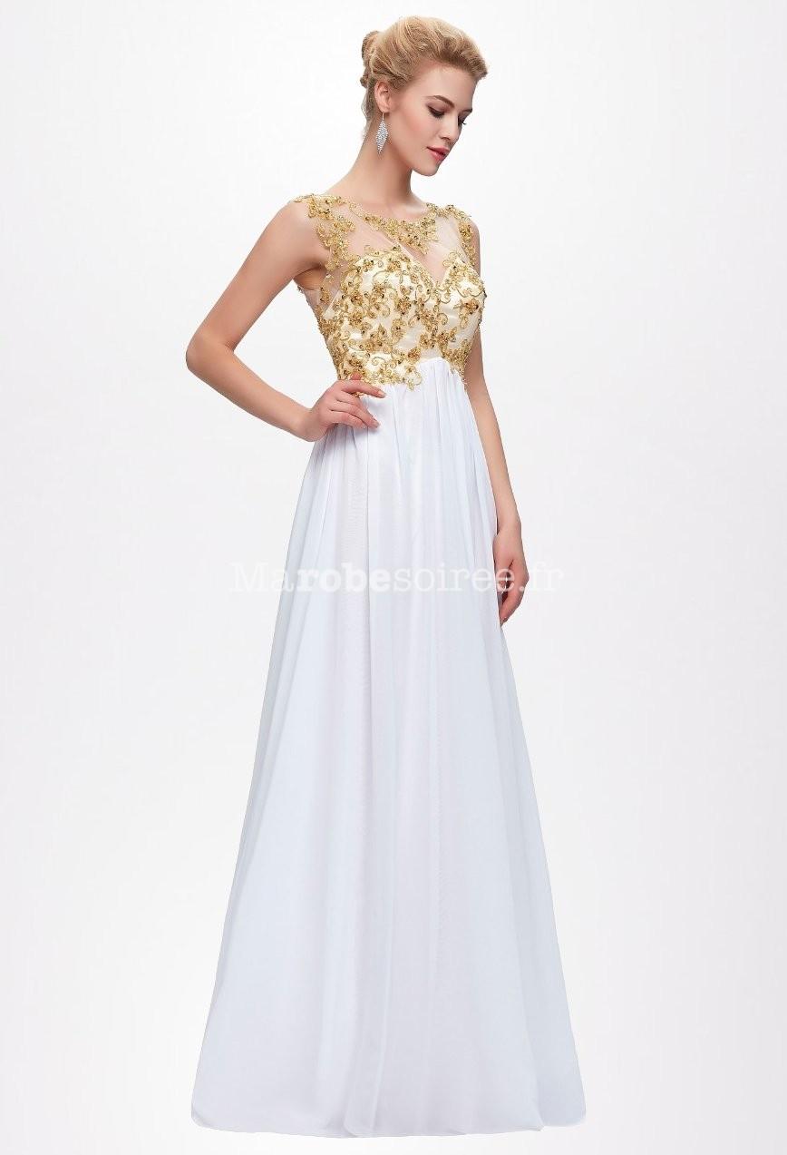 Robe de soiree blanche transparente