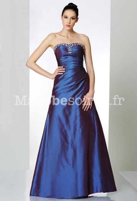Robe pour mariage bleu electrique