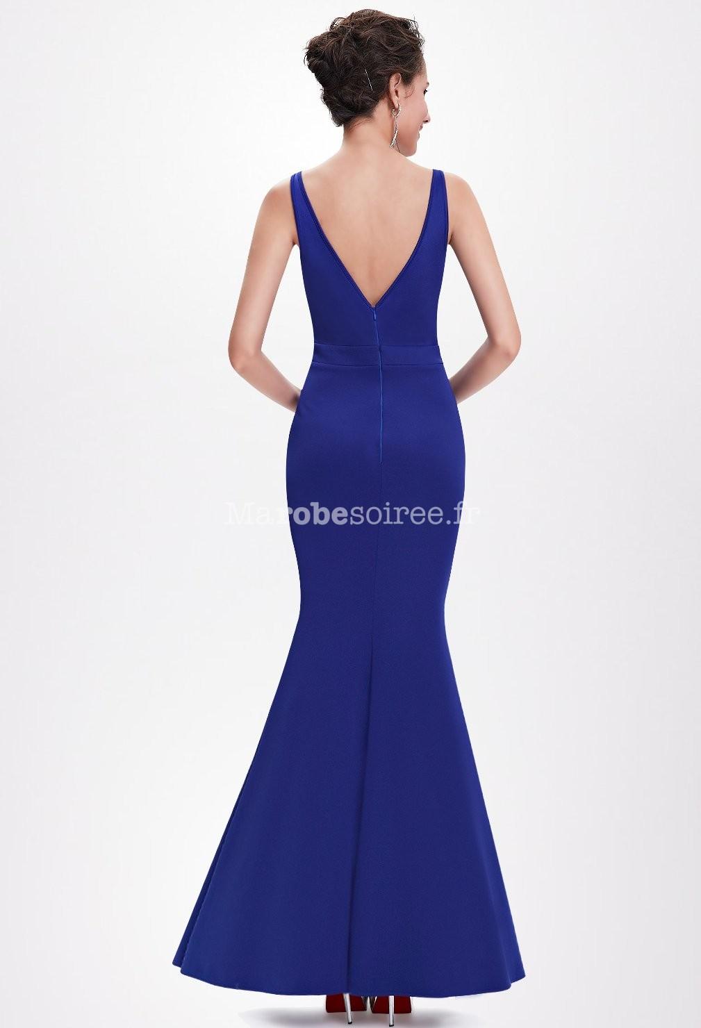 robe de bal moulante en bleu forme sir ne. Black Bedroom Furniture Sets. Home Design Ideas
