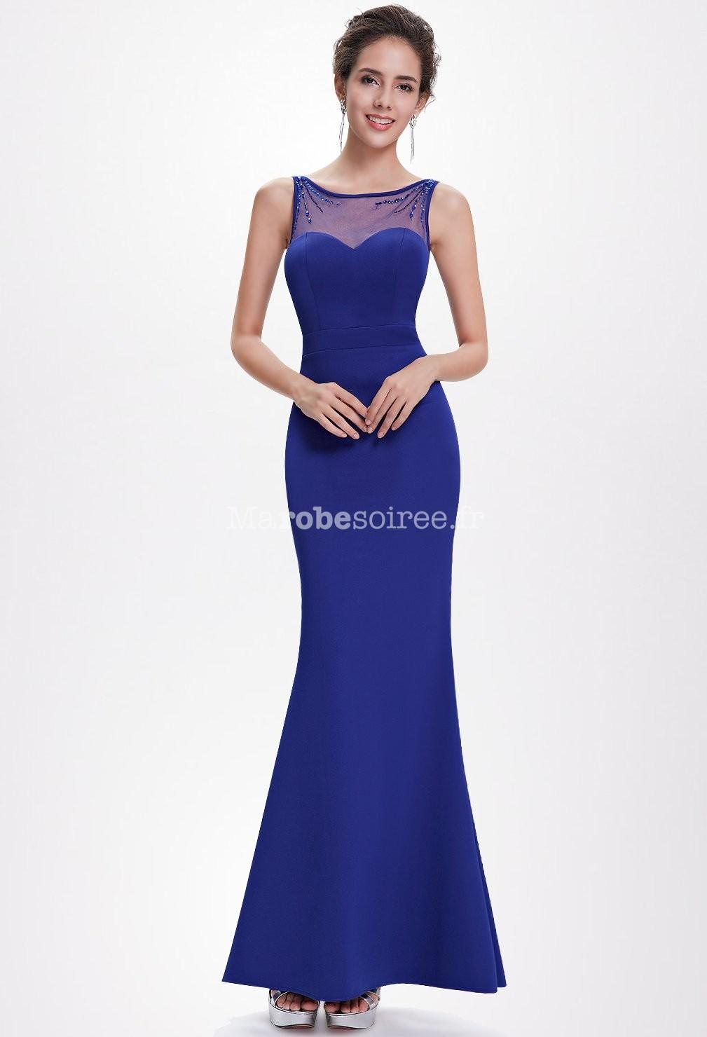Robe de bal moulante en bleu forme sir ne for Robes de bal de plage robe de bal