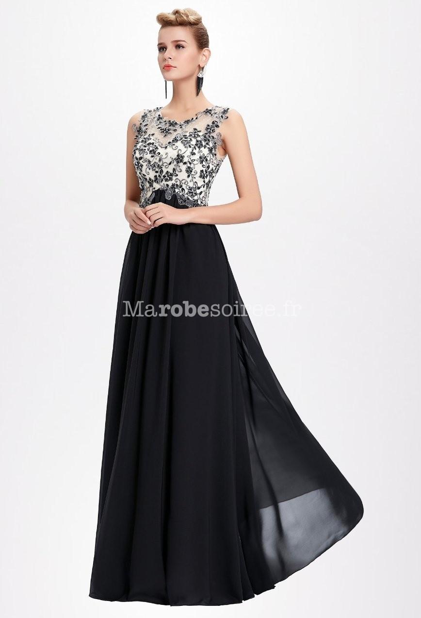 robe de ceremonie noire et blanche femme robe longue chic. Black Bedroom Furniture Sets. Home Design Ideas