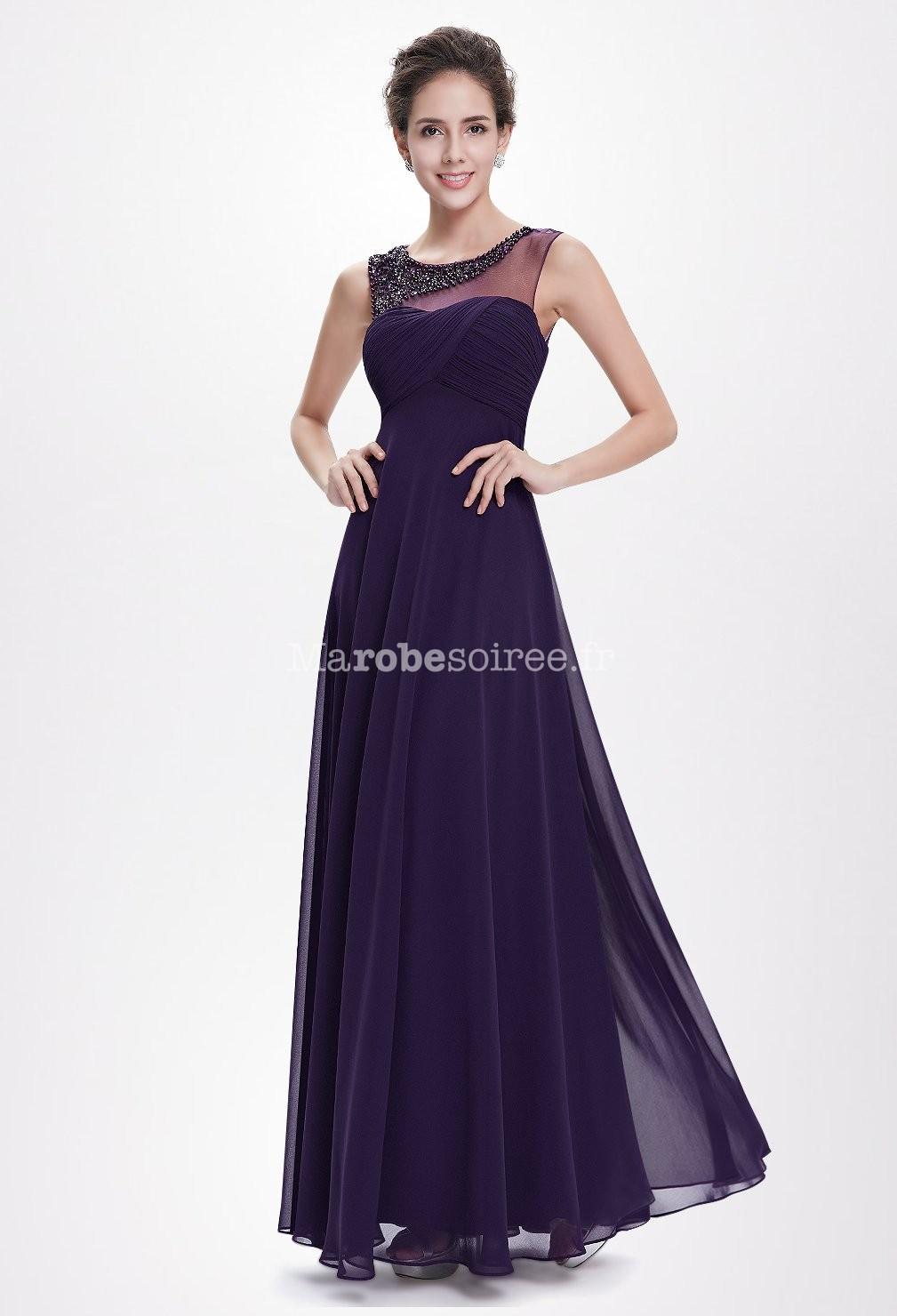 Robe de bal violet soutenu avec paulette paillet e for Robes de bal de plage robe de bal